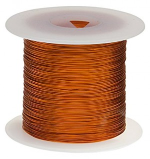 "Remington Industries 20H200P 20 AWG Magnet Wire, Enameled Copper Wire, 200 Degree, 1.0 lb., 0.0343"" Diameter, 314' Length, Natural"