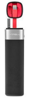 Mipow MFI - Smart Power tube 3000 - with lightning connector + JuiceSync App V2 (Black)