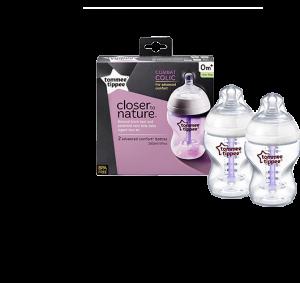Tommee Tippee CTN 2x 260ml Advanced Comfort™ Baby Feeding Bottle (Anti-Colic) #TT422603
