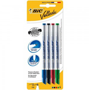BIC Velléda Felt-Tip Pens Assorted Colours 4