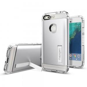 Spigen Tough Armor Case for Google Pixel Satin Silver-F14CS2089