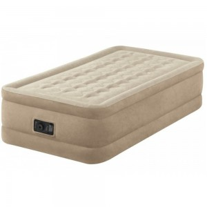 Intex Twin Ultra Plush Airbed (W/220-240v Built-in Pump) - 64456