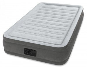 Intex Twin Comfort-plush Mid Rise Airbed  (W/220-240v Built-in Pump) - 67766