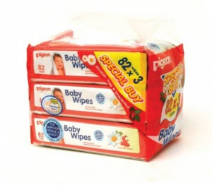 Pigeon Baby Wipes 3 Packs 82 Sheets Per Pack