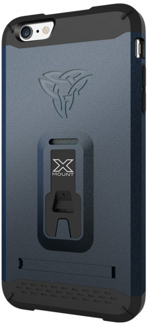 Armor X Rugged case for iPhone 6 Plus integrated X-mount system.  Metal Spray & Kick-Stand