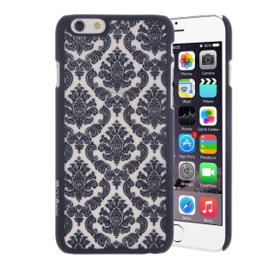 LUOLN Plastic Clear Case for Apple iPhone 6 / Apple iPhone 6S Plus - BLACK