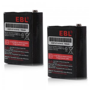 EBL Motorola 53615 KEBT-071A Replacement Rechargeable Batteries 3.6V 700mAh for Talkabout - 2 Pack