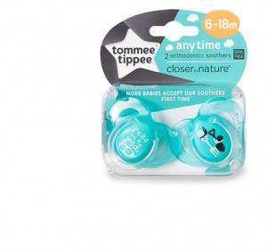Tommee Tippee CTN 2X 6-18M Baby Anytime Soother AE #TT43336464