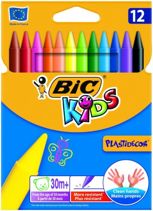 BiC Kids Plastidecor Colouring Crayons (Pack of 12)