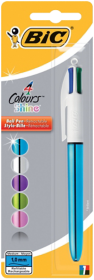 BiC 4 Colour Shine Ballpen Single