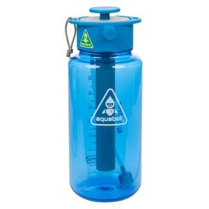 LUNATEC Aquabot 1000mL High-Pressure Water Bottle - Blue/Blue