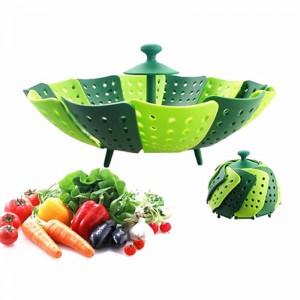 Folding Scalable Steamer Basket Silicone Cooking Tools