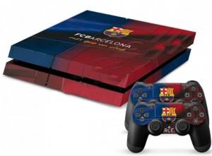 FCB Barcelona One Style PS4 Console Protective skin +2Pcs Controller Stickers With Barcelona