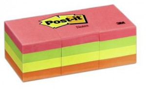 "Post-It Sticky Notes 1.5*2"" Color Pack- 12 pads per pack, each with 100 sheets"