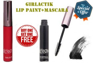 Girlactik Matte Lip Paint Iconic&Girlactik Big Lash Affair Mascara Onyx Combo Pack