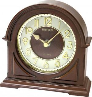Rhythm Wooden Table Clock - CRG109NR06