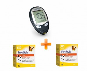 Free Style Freedom Blood Glucose Machine Lite + Abbott Freestyle Lite 50 Strips + Abbott Freestyle Lite 50 Strips