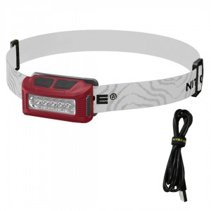 Nitecore NU10 160 Lumens USB Rechargeable Headlamp with White and Red LEDs USB Cable and Lumentac Adapter