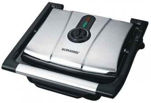 SONASHI DELUXE CONTACT GRILL w/ VARIABLE TEMPERATURE SGT- 841