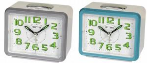 Rhythm - Value Added Bell Alarm Clocks - Blue, Silver Case