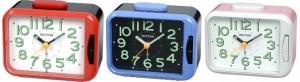 Rhythm - Super Silent Alarm Clocks - Red,Blue,Pink Case