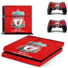 Liverpool Skin Sticker For PS4 Playstation 4 Console + Controllers