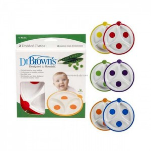 Dr. Brown's 725-P2 Designed To Nourish 2 Pack Divided Plate