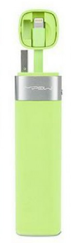 Mipow MFI - Smart Power tube 3000 - with lightning connector + JuiceSync App V2 (Green)
