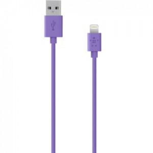 Belkin Sync/Charge Cable,2.4A,LTG,4', Purple