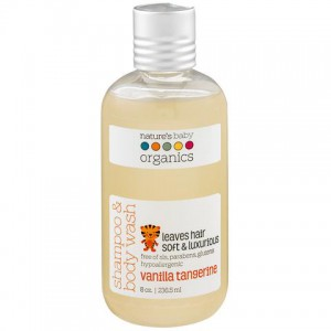 Natures Baby - Shampoo & Body Wash - Vanilla / Tangerine 8 Oz