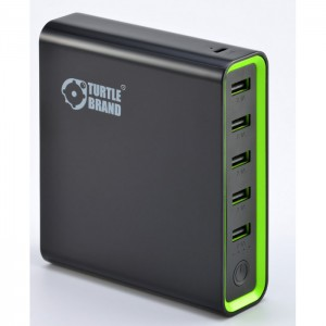 Turtle Brand Super Power Bank 20000mAh 5 USB Slots (MicroUSB cable included) - Black