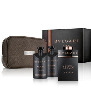 Bvlgari Man In Black Set (EDP 100ml + AS Balm 75ml + SG 75ml + Bag) for Men