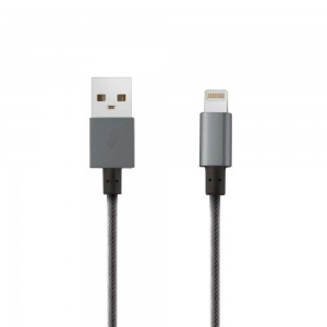 Porodo Type-c To Usb Cable 1.2m Braided Metal Tips - Grey