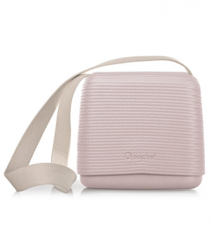 O pocket In Smoke Pink With Beige Canvas Strap - OPB61-OPHC01