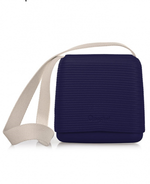 O Pocket In Iris With Beige Canvas Strap - OPB50-OPHC01