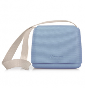 O Pocket In Azure Blue With Canvas Strap (OPB42-OPHC01)