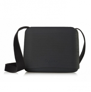 O Pocket In Black With Black Faux Leather Strap - OPB15-OPHF01