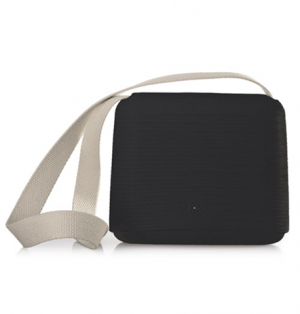 O Pocket In Black With Canvas Beige Strap - OPB15-OPHC01