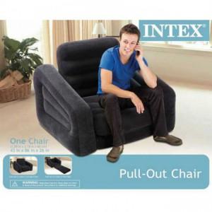 Intex 68565 Air cushioned Pullout Chair convertible Bed Mattress