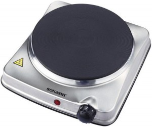 Sonashi Single Electric Hot Plate - Silver, SHP 610S