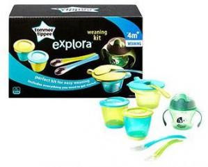 Tommee Tippee Explora Weaning & Drinking Kit - Blue #TT44673471