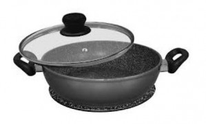 WX 10485 Stoneline 28cm serving pan with glass trivet