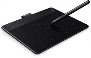 Wacom CTH-490PK-N Intuos Photo Pen and Touch Graphics Tablet, Small - Black