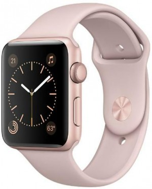 Apple Watch Series 2, 42mm Rose Gold Aluminum Case with Pink Sand Sport Band