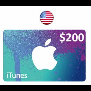 Apple iTunes Gift Card $200