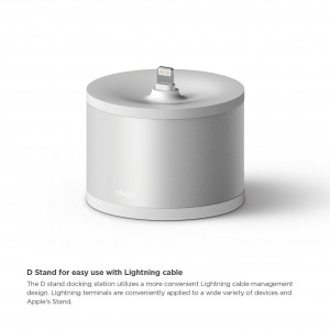 Elago D Stand Charging Station for Airpods - white