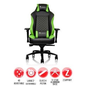 Thermaltake GC-GTC-BGLFDL-01 Tt eSPORTS GT Comfort C500 Big & Tall Racing Bucket Seat Style Ergonomic Gaming Chair Black/Green