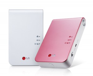 LG Pocket Photo Printer for instant mobile printing AVAILABLE IN WHITE AND PINK - PD239P