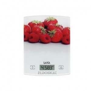 Laica Kitchen Scale with Touch Sensor - White/Strawberry - KS1029W