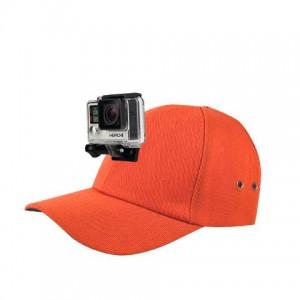 ActionHat: Hi-Vis Hunter Orange Curve Bill